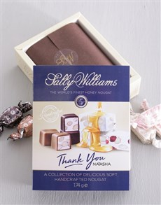 gifts: Personalised Sally Williams Nougat Thank You Box!
