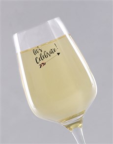 gifts: Personalised Congratulations Wine Glass!