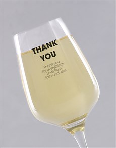 gifts: Personalised Thank You Wine Glass!