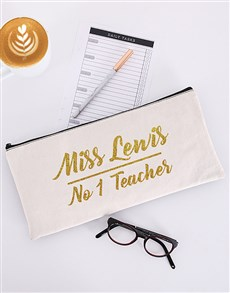 gifts: Personalised No One Teacher Pencil Bag!