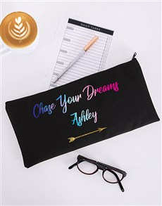 gifts: Personalised Chase Your Dreams Pencil Bag!