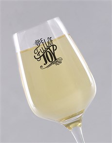 gifts: Personalised Full of Joy Wine Glass!