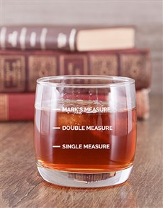 gifts: Personalised Measure Whiskey Glass!