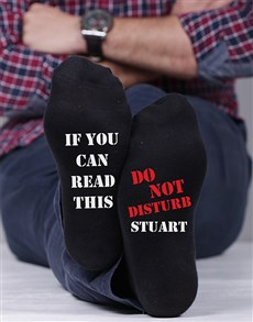 gifts: Personalised Do Not Disturb Socks!