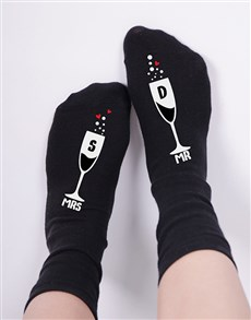 gifts: Personalised Mrs and Mr Socks!