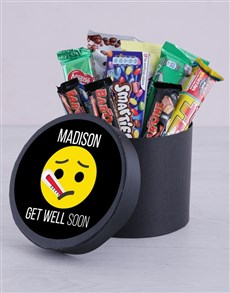 flowers: Personalised Get Well Soon Hat Box!