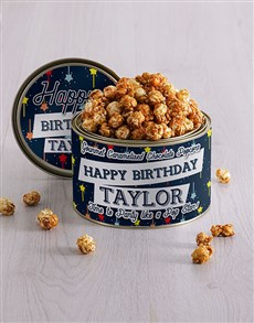 gifts: Personalised Birthday Popcorn Tin!