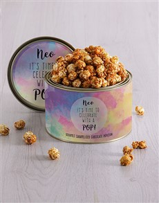 gifts: Personalised Celebrate Popcorn Tin!
