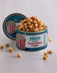 gifts: Personalised Popcorn Tin!