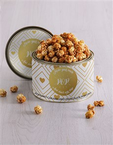 gifts: Personalised Golden Popcorn Tin!