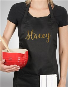 gifts: Personalised Glitter Name Apron!