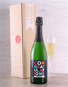 gifts: Congratulations Personalised Bubbly!
