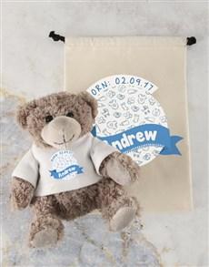 gifts: Personalised Birthday Fun Teddy and Drawstring Bag!