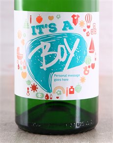 gifts: Personalised It's a Boy Bubbly!