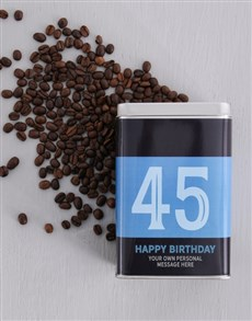 gifts: Personalised Birthday Number Coffee Tin!