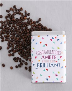gifts: Personalised Congrats Coffee Tin!