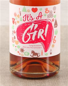gifts: Its a Girl Personalised Bubbly!