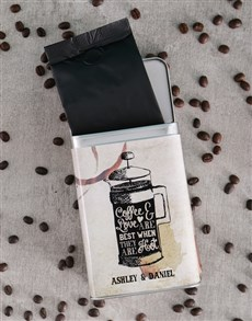 gifts: Personalised Love and Romance Coffee Tin!