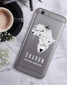gifts: Personalised Africa iPhone Cover!