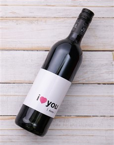 gifts: I Heart you Personalised Wine!
