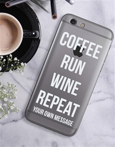 gifts: Personalised Run Repeat iPhone Cover!