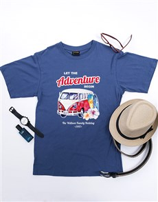 gifts: Personalised Adventure Begin T Shirt!