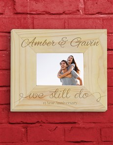 gifts: Personalised We Still Do Frame!