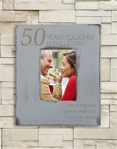 gifts: Personalised Grey Anniversary Frame!