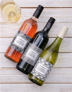 gifts: Monochrome Personalised Wine!