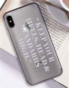 gifts: Personalised High Standards iPhone Cover!