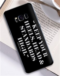 gifts: Personalised High Standards Samsung Cover!