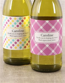 gifts: Patterned Personalised Wine!