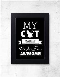 gifts: Personalised Pet Awesome Black Frame!