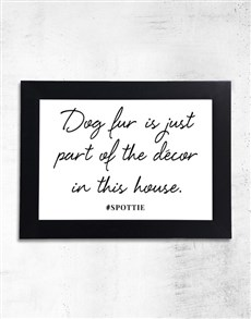 gifts: Personalised Dog Fur Black Frame!