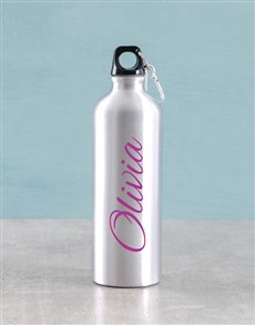 gifts: Personalised  Aluminium Water Bottle With Name!