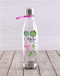 gifts: Personalised Flamingo Water Bottle!