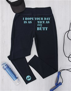 gifts: Personalised Nice As My Butt Gym Leggings!
