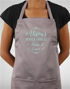 gifts: Personalised Dinner Choices Apron!
