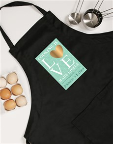 gifts: Personalised Cooking Is Love Apron!
