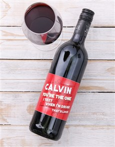 gifts: Personalised Text Love Wine!