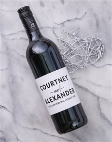 gifts: Personalised Couples Card Wine!