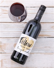 gifts: Personalised Follow Your Heart Wine!