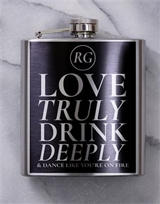 gifts: Personalised Truly Deeply Hip Flask!