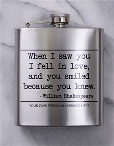 gifts: Personalised You Knew Hip Flask!