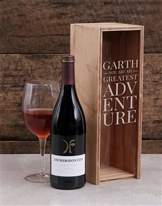 gifts: Personalised My Adventure Wine Crate!