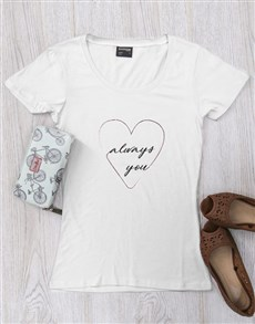 gifts: Personalised Heart Always T Shirt!