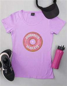 gifts: Personalised Dougnuts and Deadlifts T Shirt!