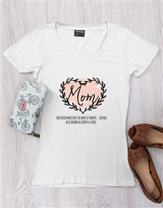 gifts: Personalised Mom Heart T Shirt!