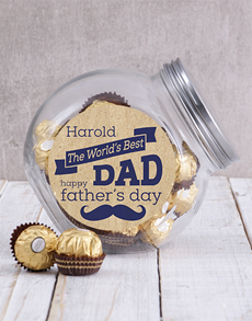 gifts: Personalised World's Best Dad Candy Jar!