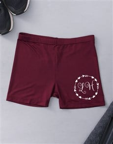 gifts: Personalised Initials Workout Hotpants!
